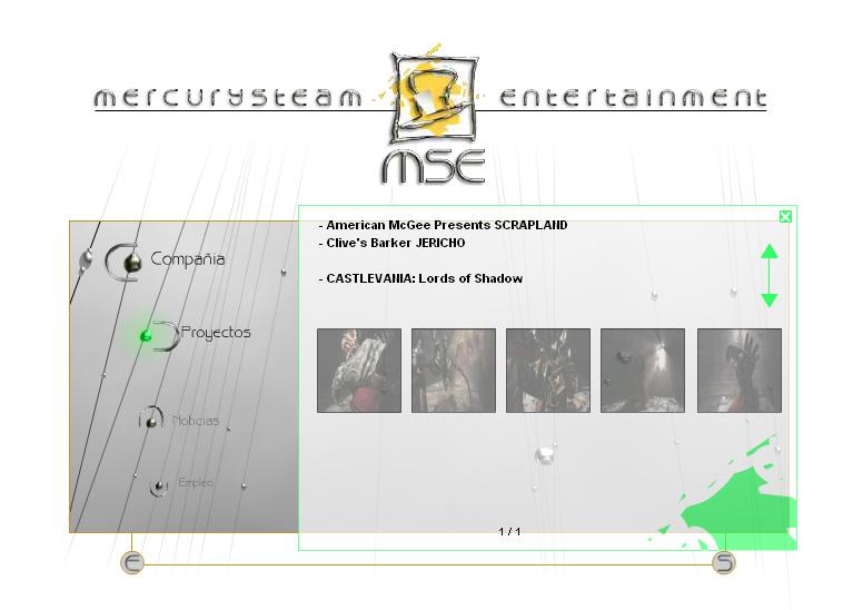 La web de Mercurysteam, bienvenidos a 1995